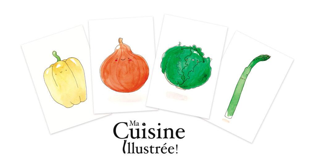 ma cuisine illustrée aquarelle légumes