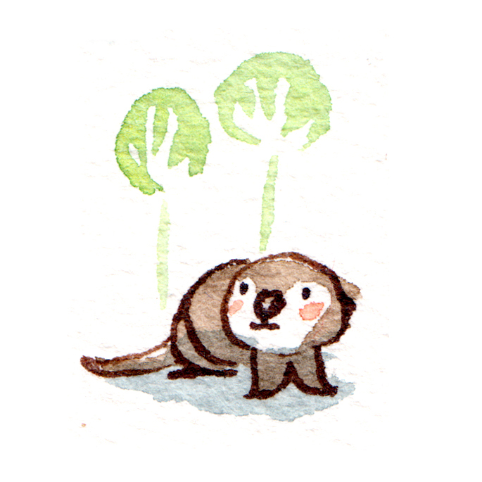 illustration loutre bébé