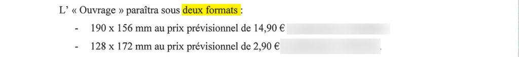 Contrat edition : livre concerné