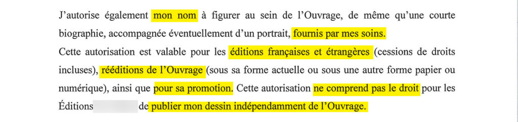 Contrat edition : autorisations