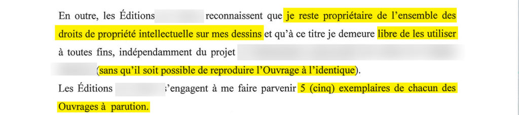 Contrat edition : exclusions