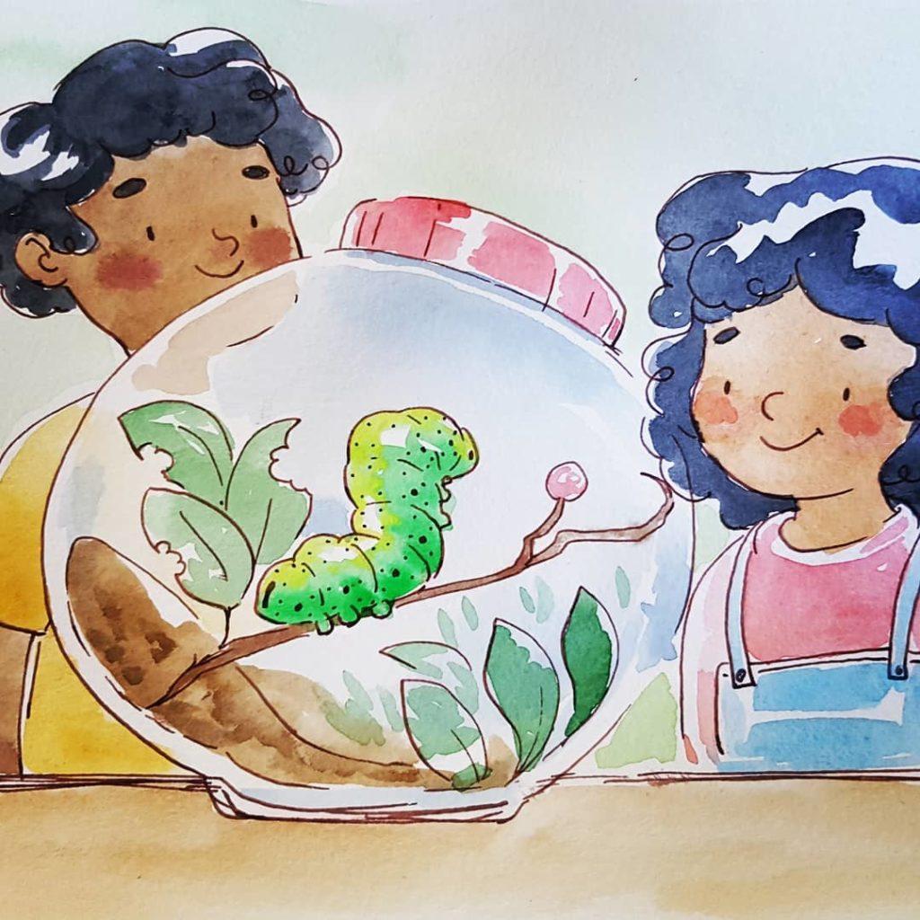 illustration enfant : la chenille