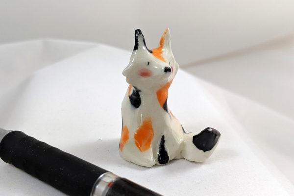 Chat tricolore céramique