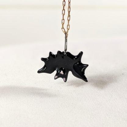 Pendentif chauve-souris céramique halloween