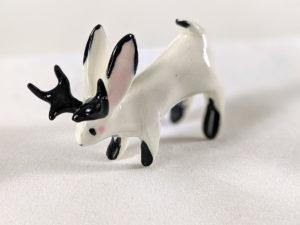 Ceramic jackalope