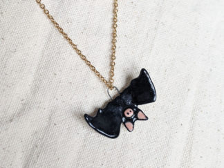 black bat pendant