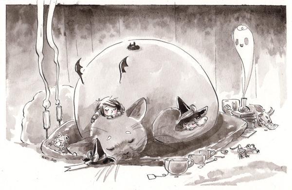inktober dessin chinchilla drawing