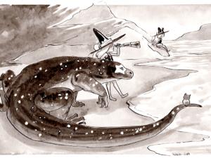 inktober dessin varan de komodo dragon
