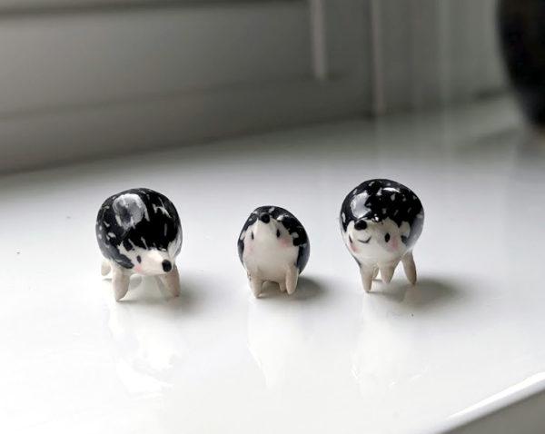 ceramics hedgehog family