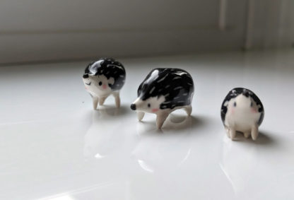 ceramics hedgehog family