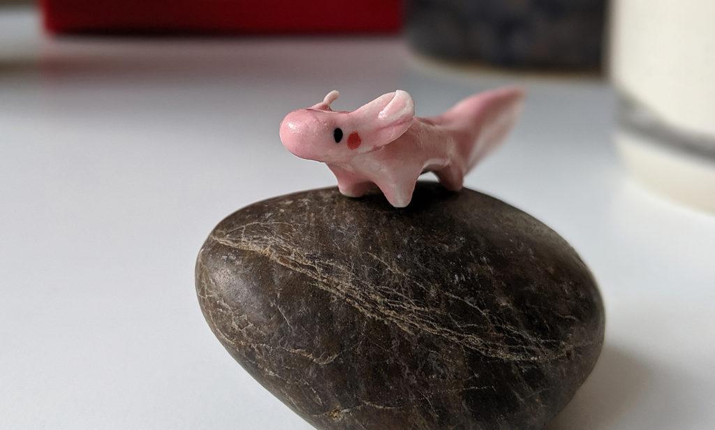 ceramic axolotl