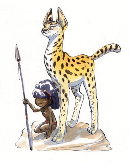 enfant et serval