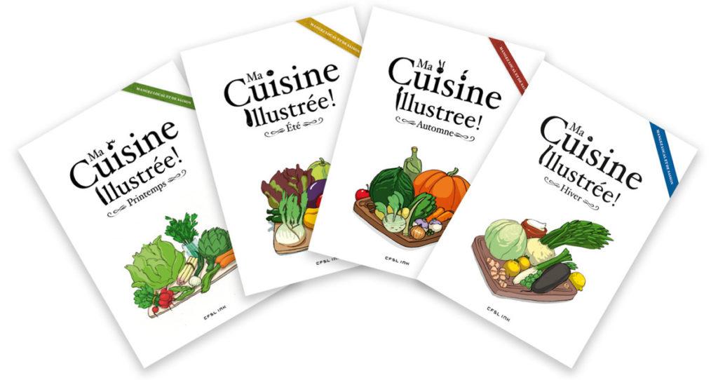 4 livres de recettes illustrées