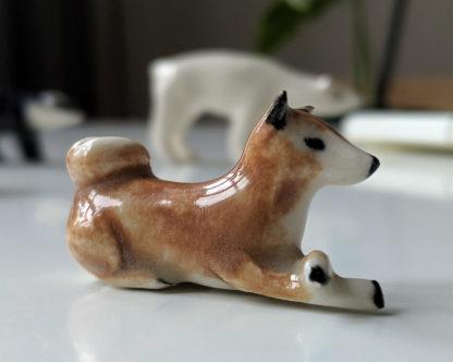 chien céramique shiba inu