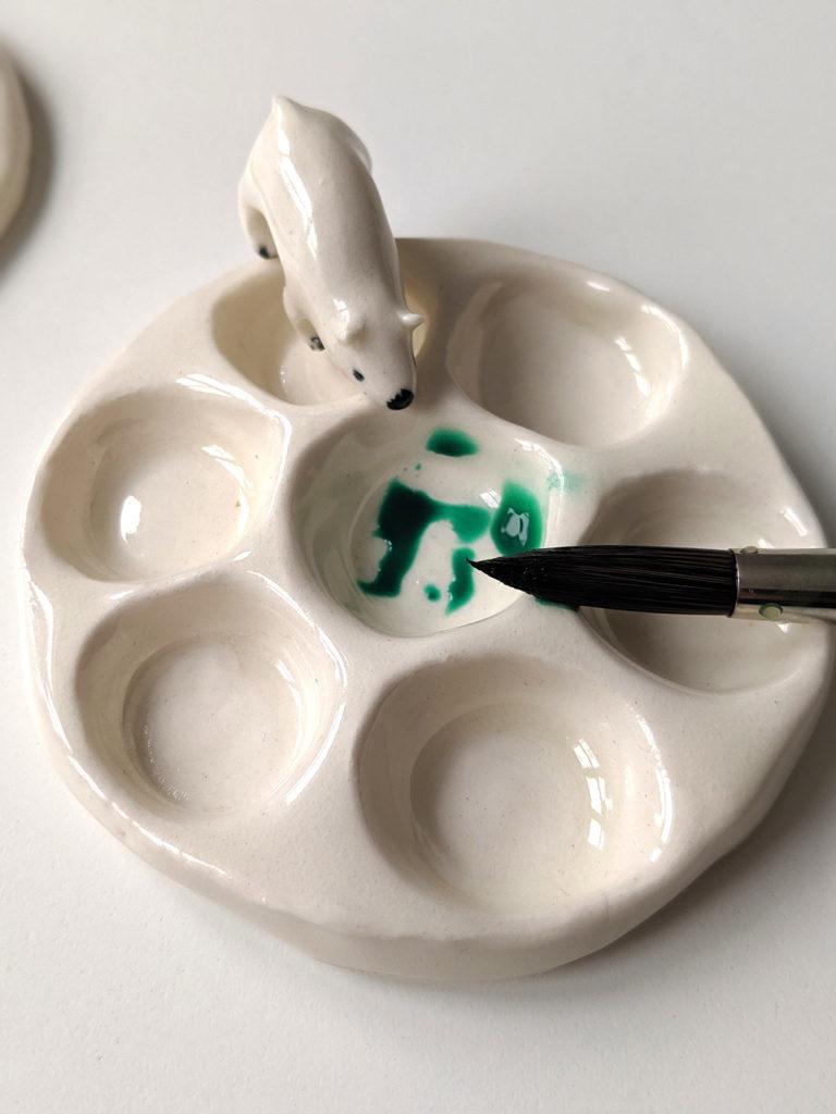 palette peinture céramique