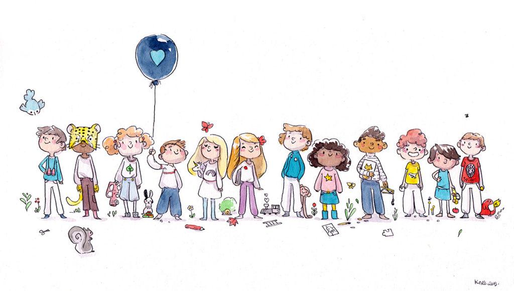 illustration aquarelle enfants