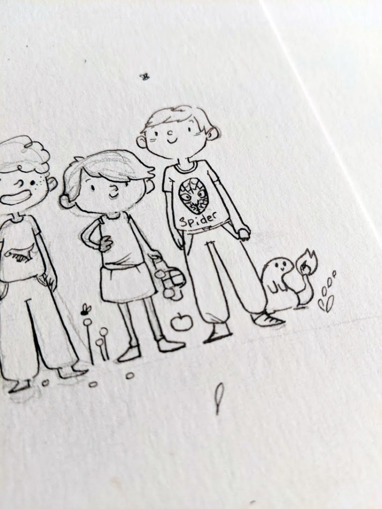 aquarelle enfants détail