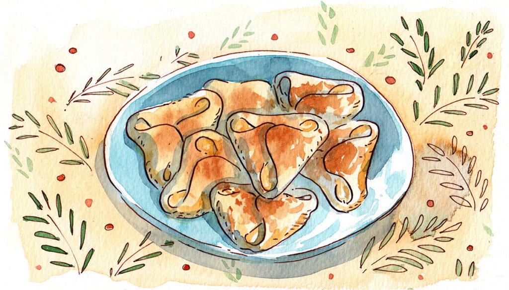 illustration cuisine dessert échaudés
