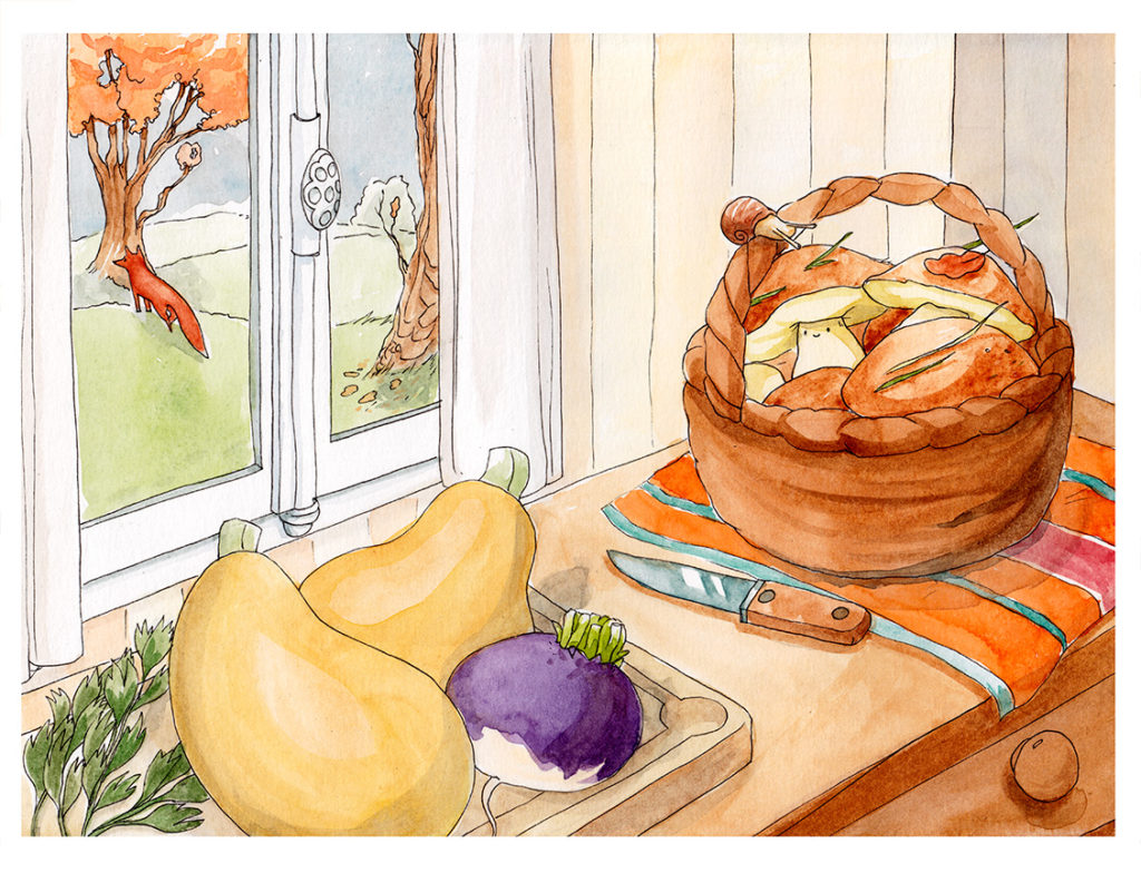illustration cuisine septembre