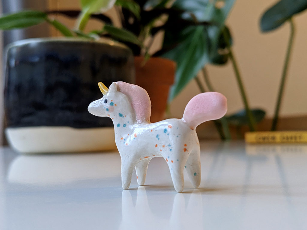 ceramic unicorn miniature
