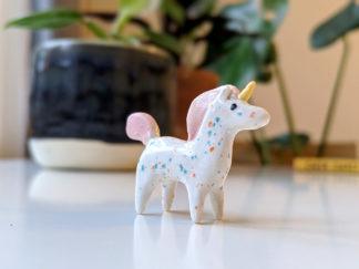 licorne ceramique miniature