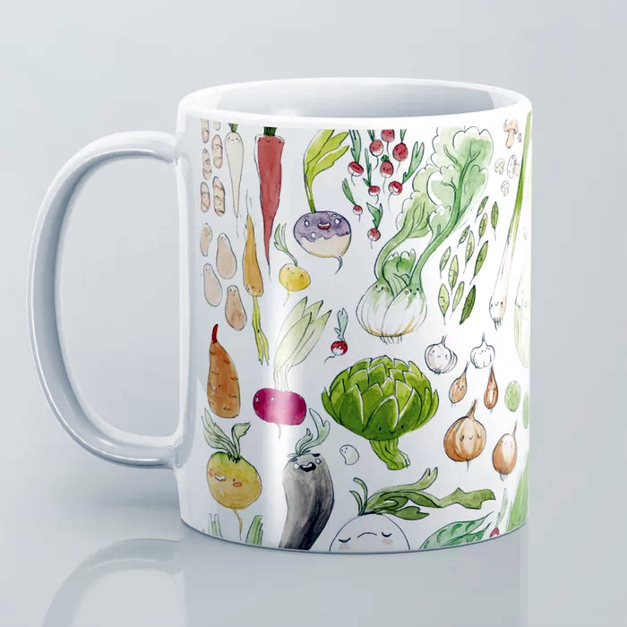 illustration cuisine mug