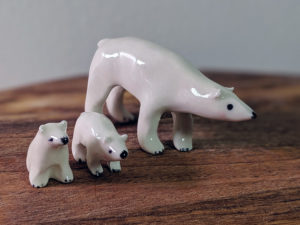 polar bear ceramic figurine