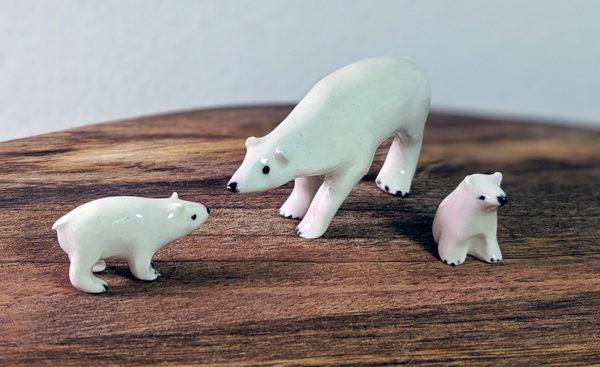 polar bear ceramic figurine