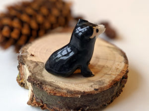 portrait chien ceramique