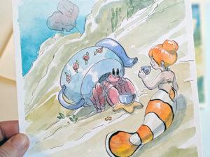 sirene clown bernard l'hermite