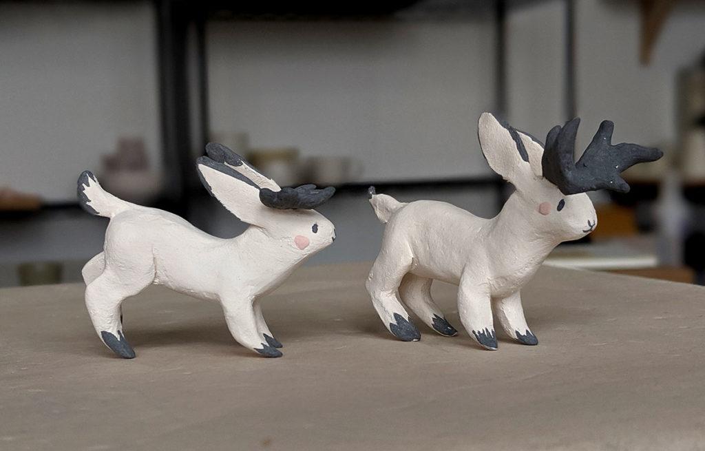 ceramic jackalopes