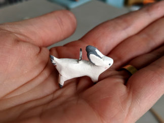 ceramic bunny pendent