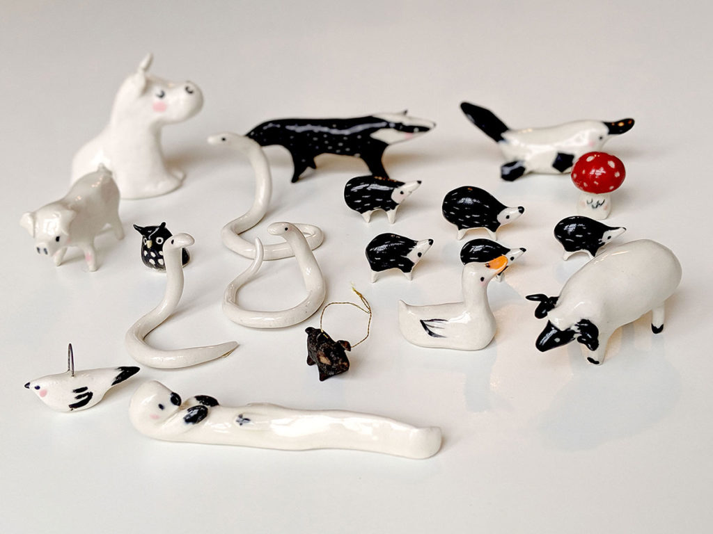 ceramic animals figurine - pottery tools
