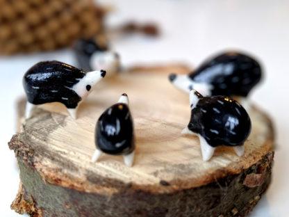 hedgehog family ceramics