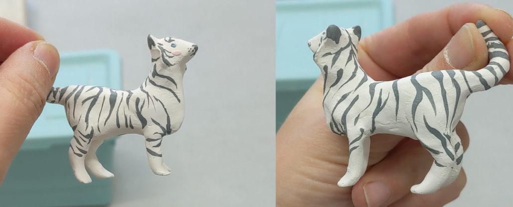 figurine de tigre après cuisson biscuit