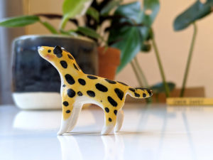 ceramic spotted hyena