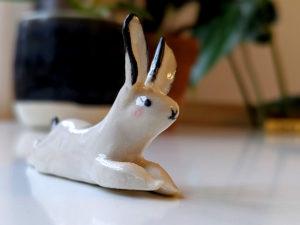 splooted ceramic bunny