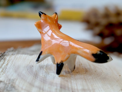 tiny red fox porcelain
