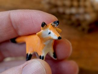 mini renard roux porcelaine