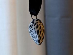 pendentif chouette céramique