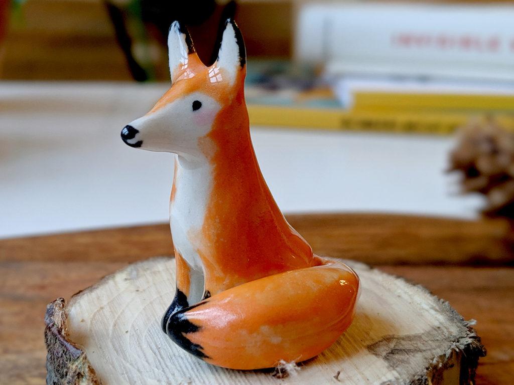 renard roux porcelaine