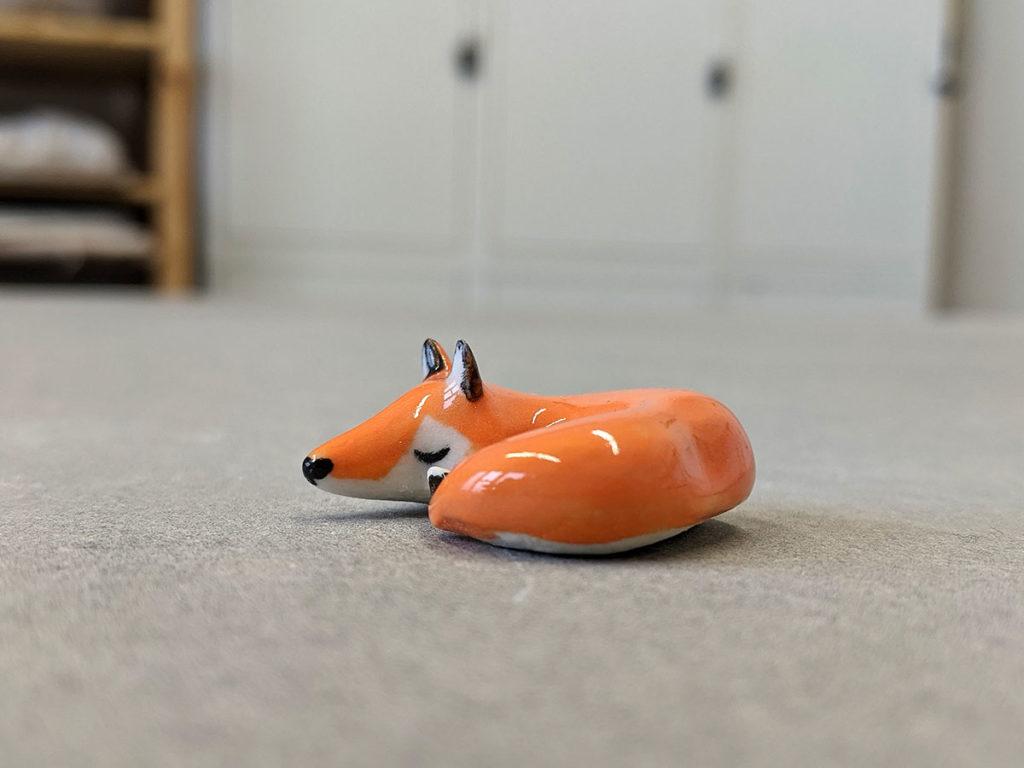renard endormi