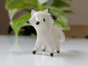 mini renard porcelaine