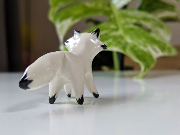 mini renard porcelaine