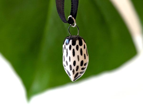 collier chouette céramique