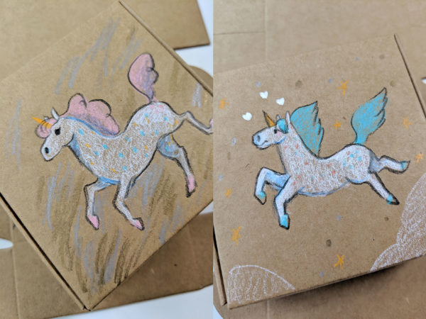 ceramic unicorn custom box