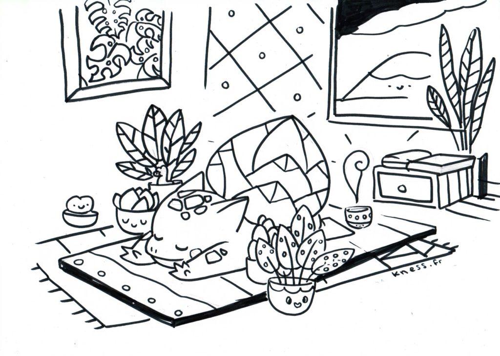 coloriage bulbizarre zen