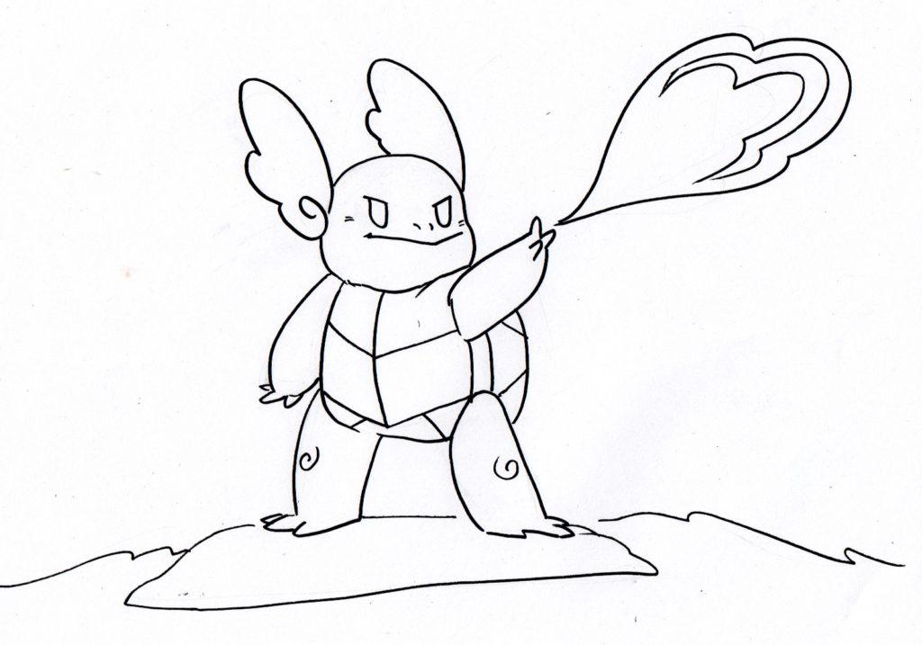 coloriage pokemon carabaffe