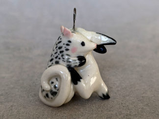 pendentif lapin oppossum porcelaine