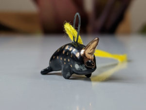 pendent narwhal black gold